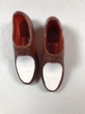 Brown & White Squishy Loafers Shoes Japan 1960s Vintage Ken Doll