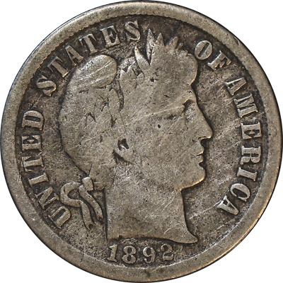 1892-S Barber Dime Great Deals From The Executive Coin Company