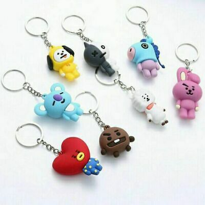 KPOP BTS21 BAGTANG BOYS COLLECTIBLE KEY CHAIN LINE CUTE CHARACTERS and FRIENDS
