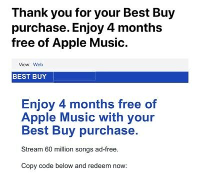 Apple Music 4 Months USA Code Fast Delivery Message (new Subs Only)
