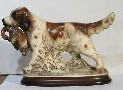 Vintage Hunting Dog Figurine With Goose In Its Mouth From Old Dog Collection