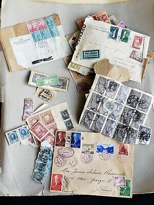 WWII era Stamps (and older) collected by Mrs James Delano Roosevelt