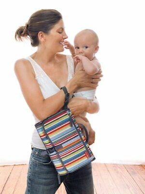 Skip Hop Pronto Portable Changing Pad Station Diaper Clutch Metro Stripe NWOT