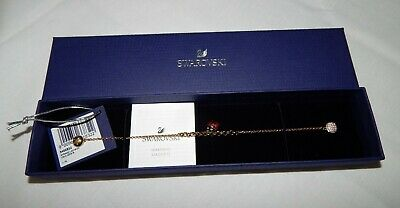 Swarovski Crystal Remix Collection Ladybug Strand Gold-Tone Bracelet NEW 5466832