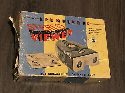 Brumberger Stereo Viewer Vintage With Box 1265 Battery Operated