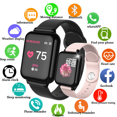 YIKAZE Smart Watch Fitness tracker Fitbit  Sport Bracelet B57 Android iphone US