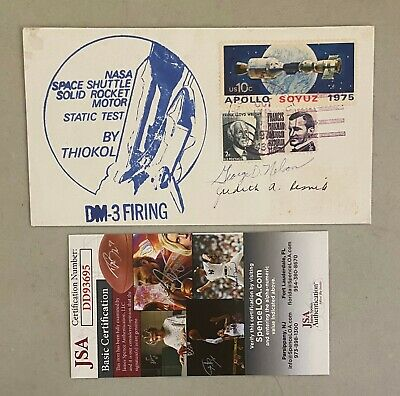 Judith Resnik & George D. Nelson Astronaut's Signed 1st Day Cover  (THIOKOL) JSA