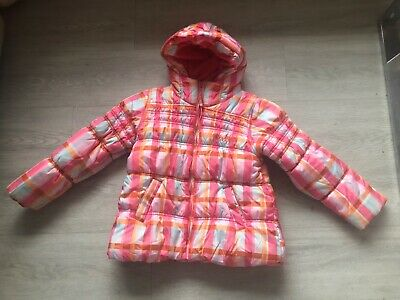 Next Girls Multi coloured jacket with hood, Age 7-8 has years, in good condition