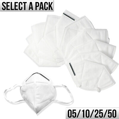 KN95 Face Mask Medical Protective Respirator Cover Mouth & Nose (5/10/25 or 50)