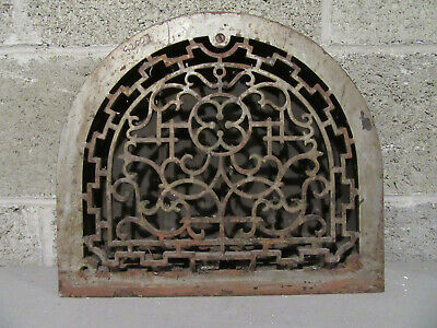 ~ Antique Arched Top Register Vent Grate Cast Iron  ~ Architectural Salvage