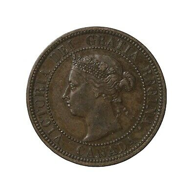 1888 Canada 1c Large One Cent KM#7 Queen Victoria British Coin