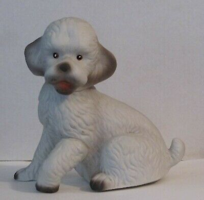 Vintage Dog Figurine With Music Box In Its Base