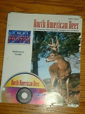 COREL Professional CD ROYALTY FREE Photos, North American Deer, 100 Stunning