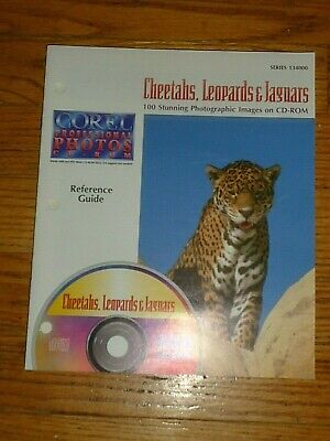 COREL Professional CD ROYALTY FREE Photos,Cheetahs,Leopard,Jaguars,100 Stunning