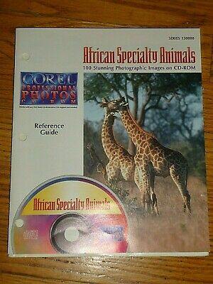 COREL Professional CD ROYALTY FREE Photos, African Specialty Animals,100 Images