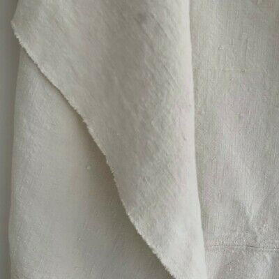 LOVELY nubby  Antique French Linen Sheet 82 X 66 Floppy  shabby chic fabric