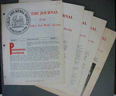 5 SCARCE early TAMS Journals - 1965 Volume V Number 1, 2,3 ,4 & 5