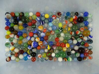 Antique Vintage Glass Marble Collection Assortment German Machine Hand Made LOTD