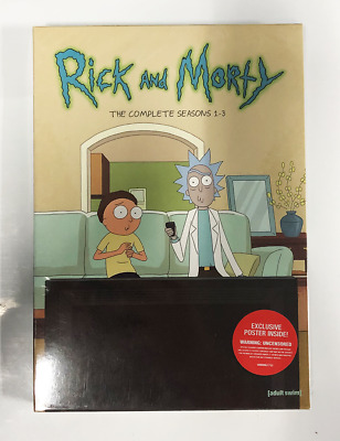 Rick and Morty Complete Series Season 1-3(Box set DVD) Bundle FREE SHIPPING