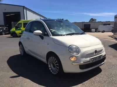 Fiat 500 Lounge 1.2 2010 White 65000 Miles 60 Mpg  First Car Bargain!!!