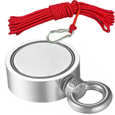 400-850LB Fishing Magnet Kit Strong Neodymium Pull Force Treasure Hunt With Rope