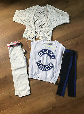 New Next Summer Girls Bundle  Crochet Cardigan /  Trousers / Outfit Age 4 Years