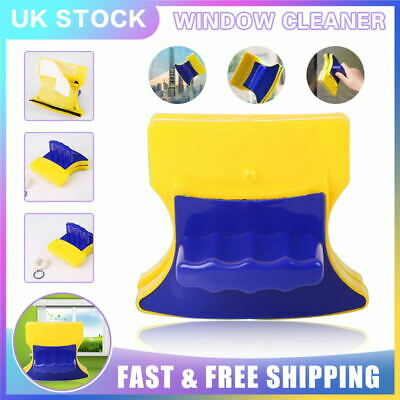 Sturdy Safe Glass Wiper Double Sided Magnetic Cleaning Tool Window Cleaner UK