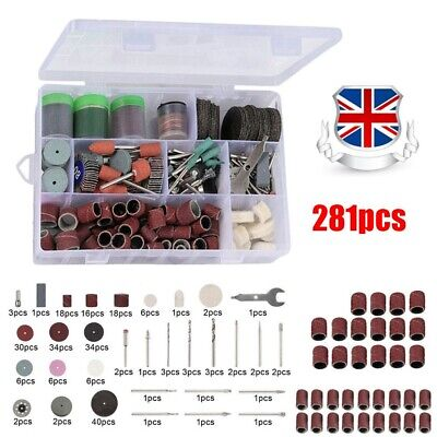 Rotary Tool Accessories Kit 281pcs Grinding Polishing Cutting Sanding for Dremel
