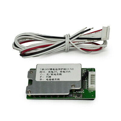 Battery Cells Charging Protection Boards 7S 24V 20A BMS For 18650 Li-ion Lithium