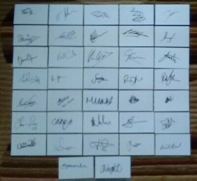 Warwickshire CCC 37 hand signed 5x3 white cards