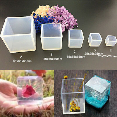 DIY Silicone Pendant Mold Jewelry Making Cube Resin Casting Mould Craft Tool BRP
