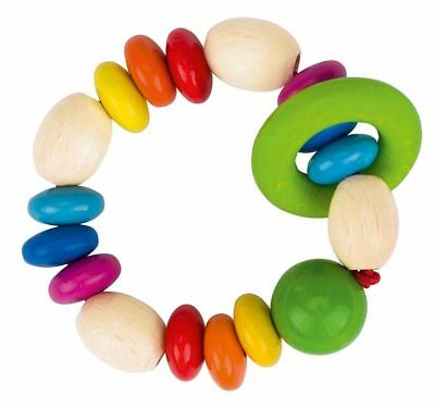 Heimess TOUCH RING RATTLE RAINBOW LENSES Baby Wooden Toy - NEW