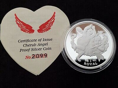 2001 Gibraltar Cherub Angel - 1 oz Silver Royal - #2099/10,000