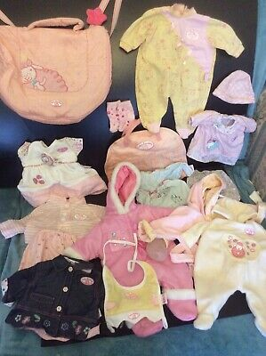 Baby Born Annabell Dolls Clothes Outfit Bundle Changing Bag Snow Suit Denim Zapf