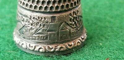 Simon Brothers of Pa ,Sterling thimble 1880-1899 Hand engraved...
