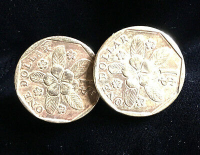 Singapore One Dollar coins - Cufflinks