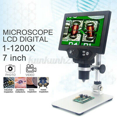 MUSTOOL G1200 12MP 7'' HD Digital Microscope 1-1200X Continuous Zoom