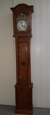 1800s French comtoise pine cased longcase grandfather clock verge escapement.