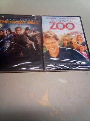 The Great Wall + We Bought A Zoo DVD 2 Brand New Sealed Matt Damon Movies