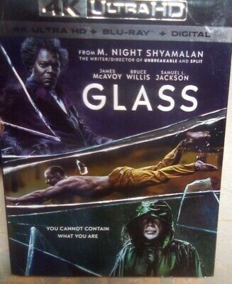 Glass (4K Ultra HD + Bluray + Digital) Brand New With Slipcover