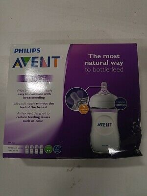 Philips Avent Natural Baby Bottles 9oz 4-pack Feeding Bottles