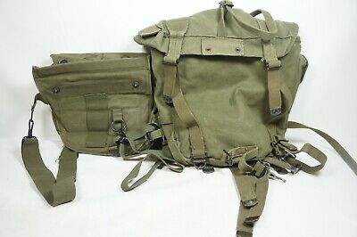 US Military Field Pack Backpack Army Combat Vintage With smaller bag