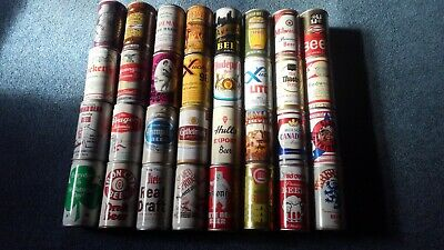 Lot of 32 Vintage Beer Cans Pop Top Pull Tab Gettelman Hull's Molson Piels LOT40