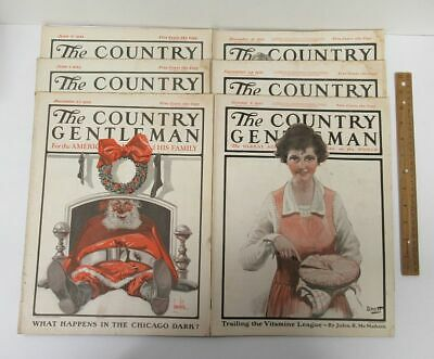Lot (6) Vintage [1921-1923] THE COUNTRY GENTLEMAN Magazine Issues Farming yz2024