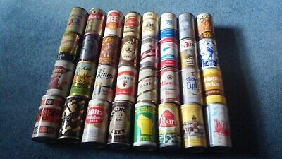 Lot of 32 Vintage Beer Cans Pop Top Pull Tab Pearl Kings Jax Blitz Miller LOT44