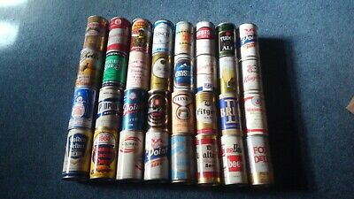 Lot of 32 Vintage Beer Cans Pop Top Pull Tab Crytal People Point Tudor LOT47