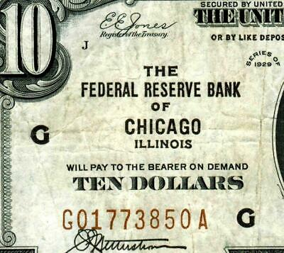 Chicago - $10 1929  ** National Currency ** MORE CURRENCY FOR SALE **