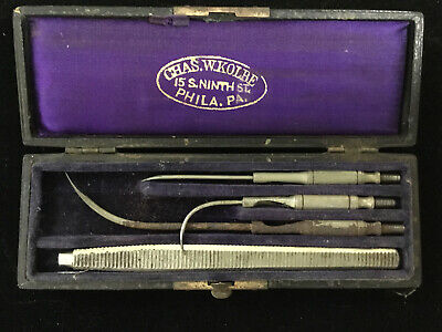 Antique Chas. W. Kolbe Surgical Medical/Veterinary Instrument Set-Phila, PA