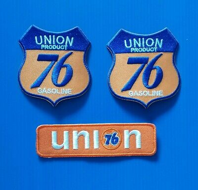 "LOT OF 2-UNION /""76/""/"" GAS /& OIL Embroidered  Iron On Patches"