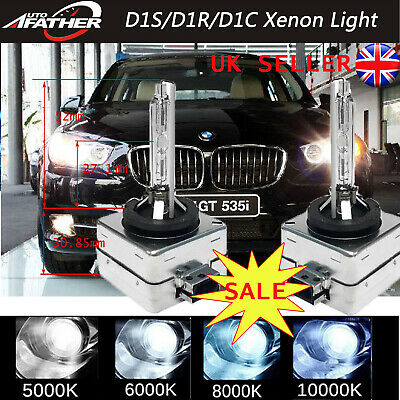 Pair D1S Xenon Hid Bulbs White 6000K Replacement Low Beam Ford Kuga I 2008-2012